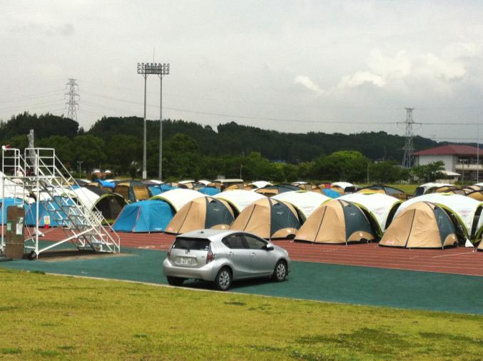 Kumamoto earthquake 2016 tents